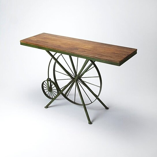 Surprising Butler Bicycle Metal Wood Console Table Andrewgaddart Wooden Chair Designs For Living Room Andrewgaddartcom