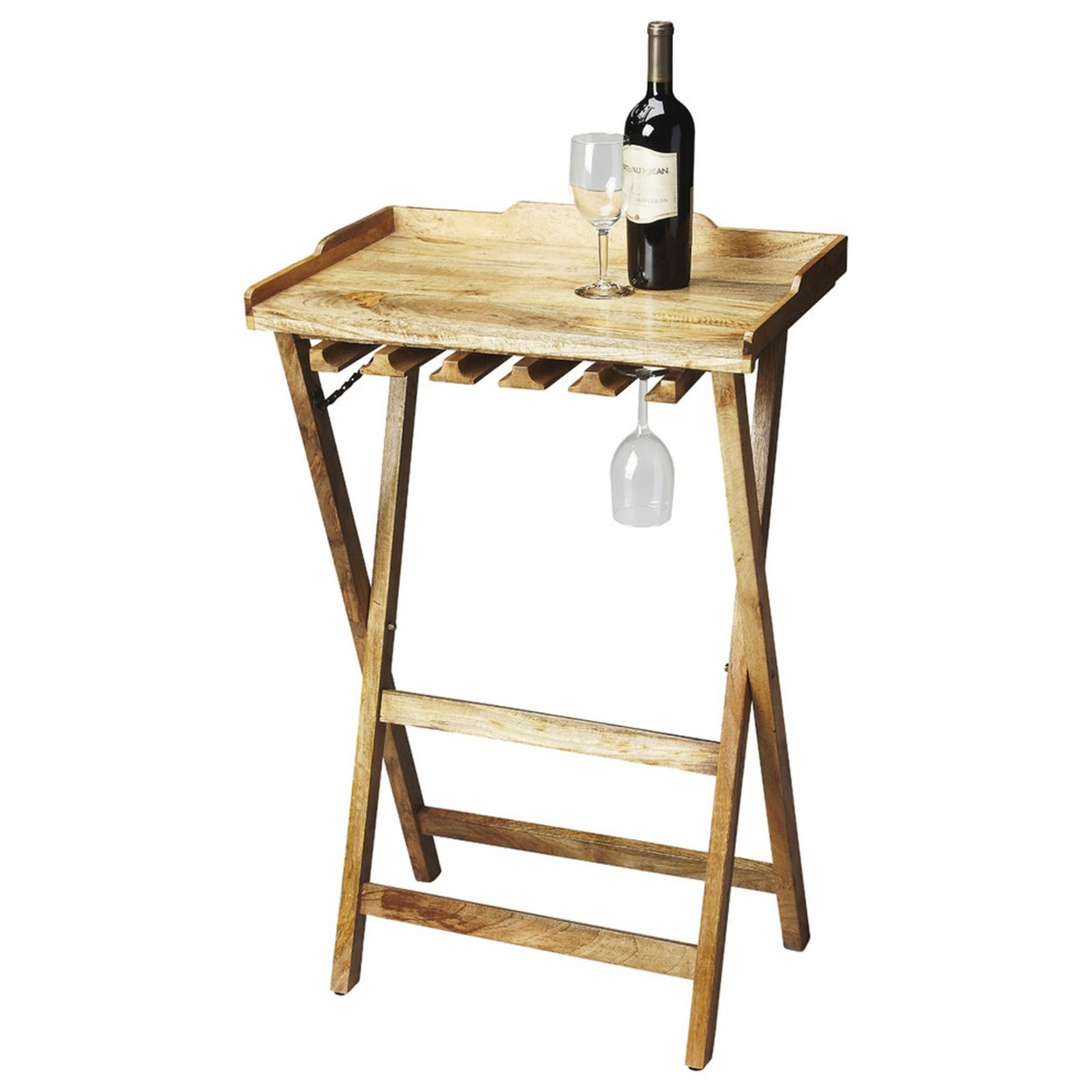 Butler Highland Solid Wood Folding Wine Rack 58b602302a00e466162a7c79
