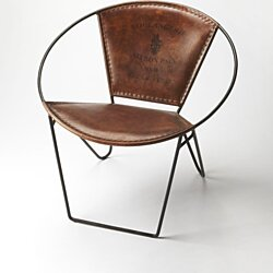 Butler Milo Iron & Leather Accent Chair