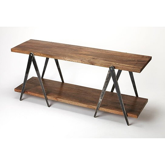 Buy Butler Scissors Iron U0026 Wood Console Table By Butler Specialty On Dot U0026  Bo