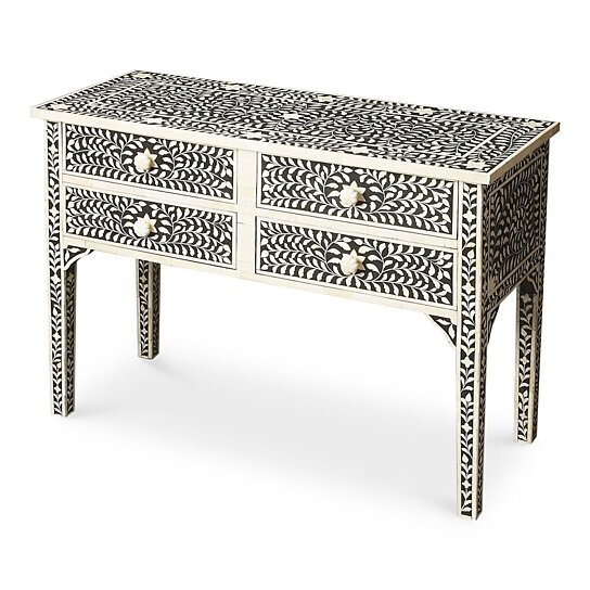 346426cf3ce92 Buy Butler Vivienne Black Bone Inlay Console Table by Butler Specialty on  Dot   Bo