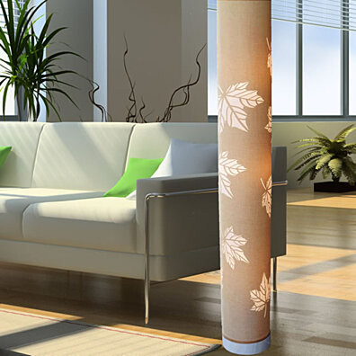 New  Beige cylinder Modern Contemporary Floor lamp ZK003L Decor Art Design Lighting for Living room, Family room,  Bedroom, oofice
