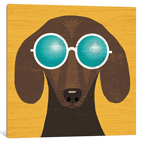Dachshund I by Michael Mullan Canvas Print