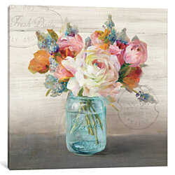 French Cottage Bouquet II by Danhui Nai Canvas Print