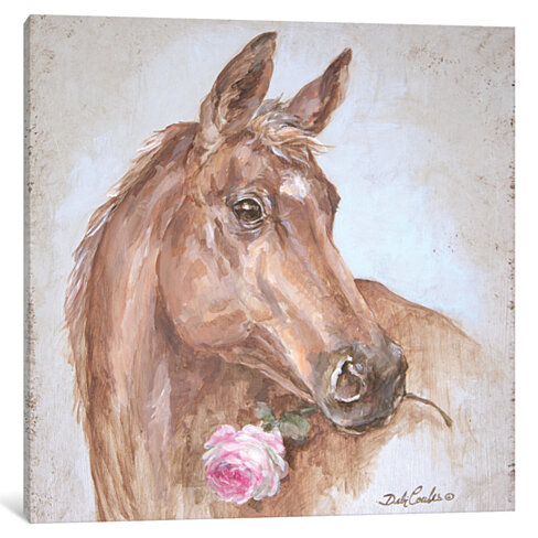 French Farmhouse Series: Horse With Rose by Debi Coules