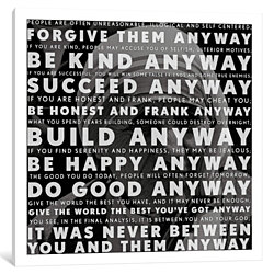 Mother Teresa Quote by iCanvas Canvas Print