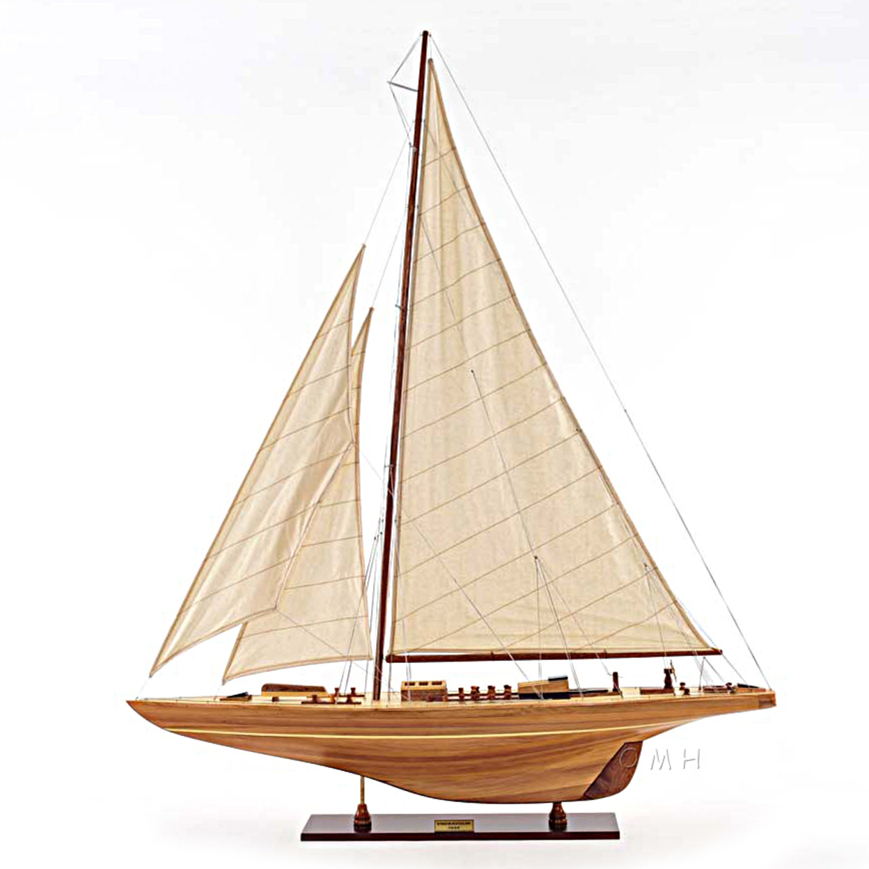"America's Cup Endeavour 1934 Yacht Wood Model 40"" Sailboat Boat 55b69a56a2771c96328b4889"