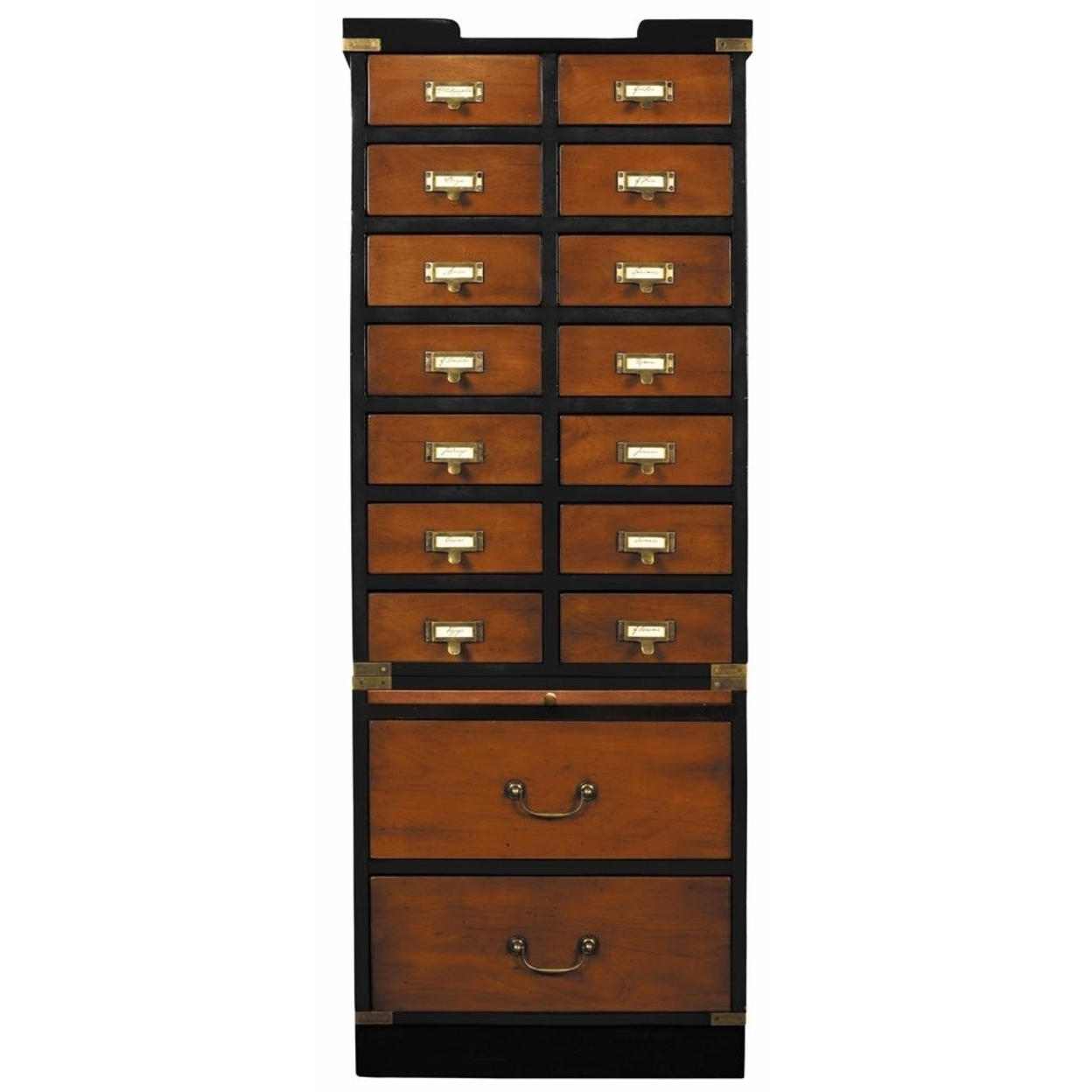 """Collectors Cabinet, Drawers 57"""" Nautical Collection Collectables Storage"""