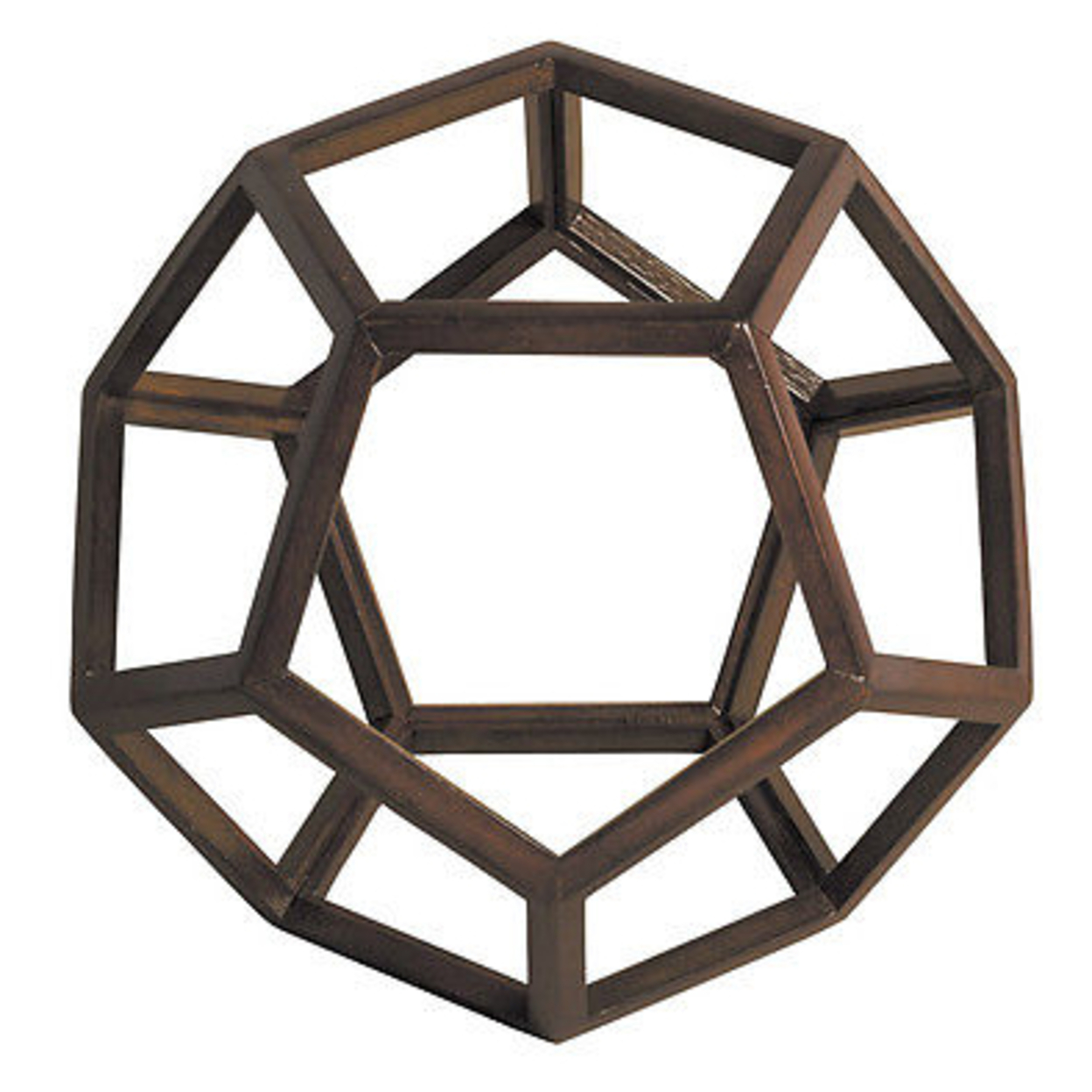 "Dodecahedron 3D Geometric Ether Wooden Model 9"" Polyhedron Office Home Accent 55b69a57a2771c7c258b61ee"