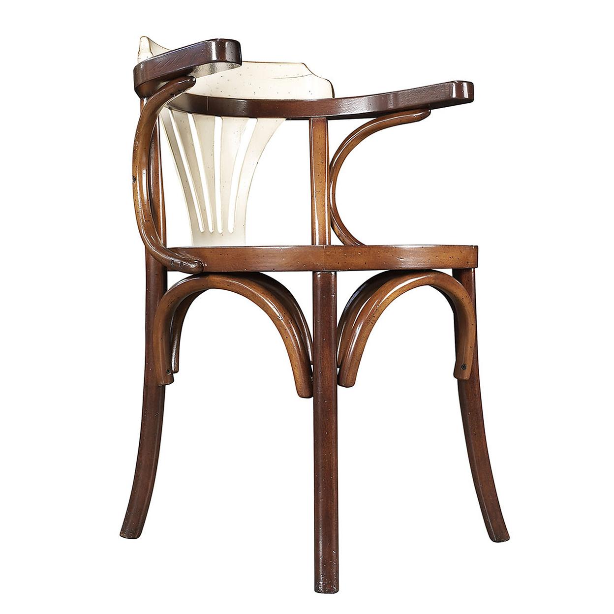 "Navy Chair Honey & Ivory Finish 31"" Nautical Office Desk Furniture"