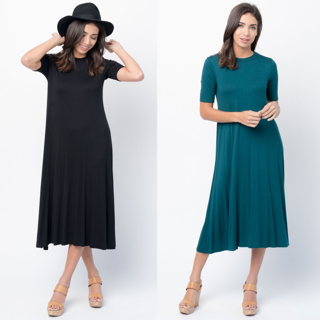 Caralase Solid Jersey Swing Midi NC- 18 Colors Available - Heather Grey, Small 57ab9eed2c043d4e6205b9b8