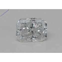Radiant Cut Loose Diamond (0.65 Ct, E Color, SI2 Clarity) GIA Certified