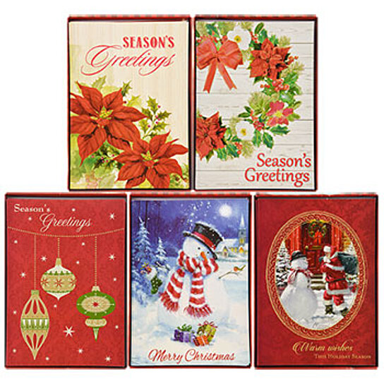 Traditional Christmas Cards Boxed