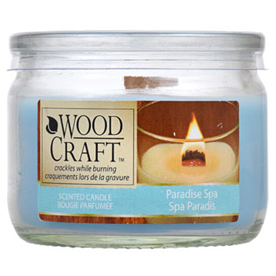 Buy woodcraft paradise spa scented glass jar candles by for Spa smelling candles