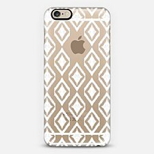 White Tribal Translucent Diamonds - iPhone 6 Case (Frosty White)