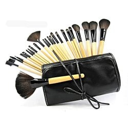 24-Piece Professional Makeup Brush Kit w/ Carrying Case