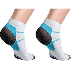 3-Pairs: Unisex Compression Socks for Plantar Fascilitis