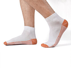 3-Pairs: Unisex Copper-Infused Compression Ankle Length Socks