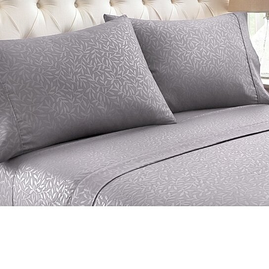 Buy 4 Piece Set: Super Soft 1600 Series Leaf Embossed Bed Sheet By Catchy  Deals On OpenSky