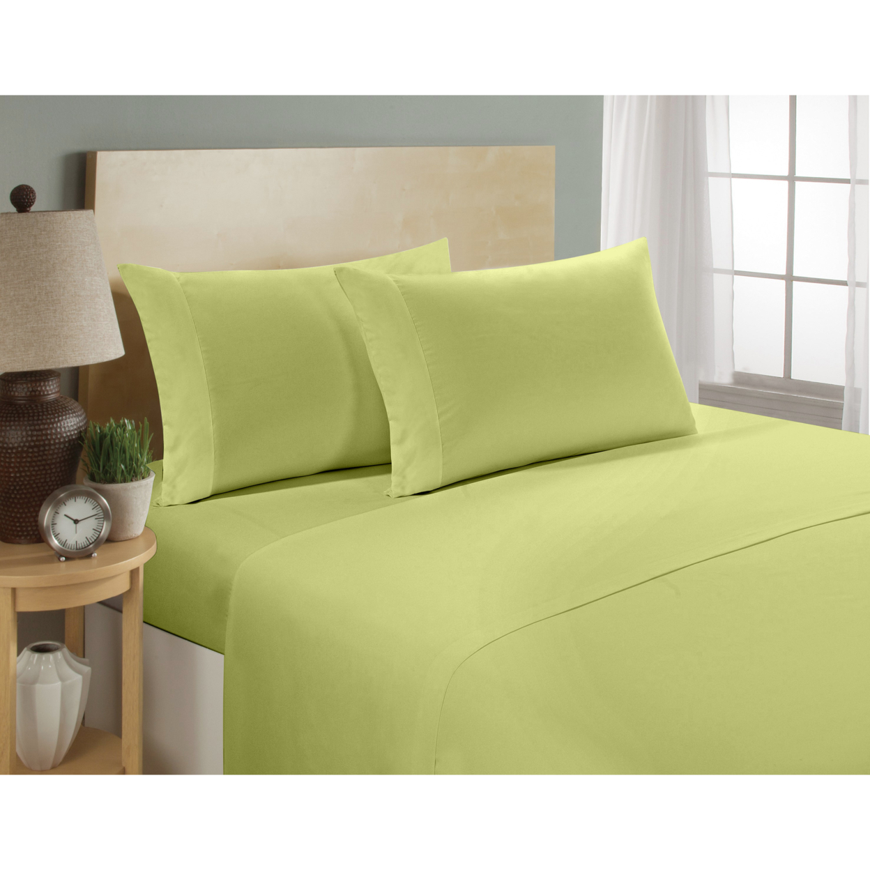 4 Piece: Ultra Soft 1800 Series Bamboo Bed Sheets (6 Colors) – Twin, Sage