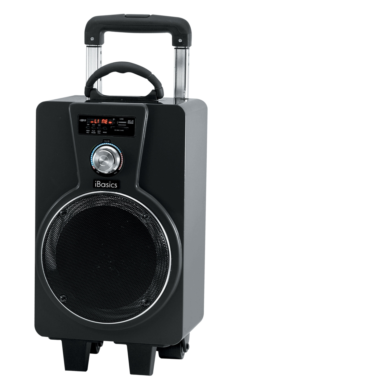 iBasics Portable Tailgate Party Speaker with Mic - Black 571916a1683d6f48368b4a3f