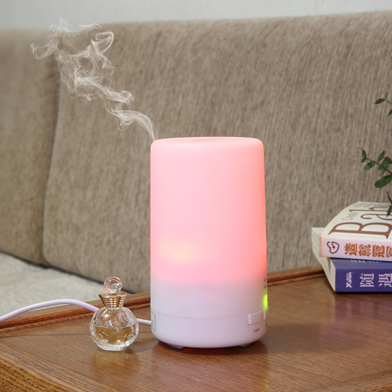 Portable USB Oil Humidifier with Color Changing LED Lights 573249ec8c3d6f40668b47d0