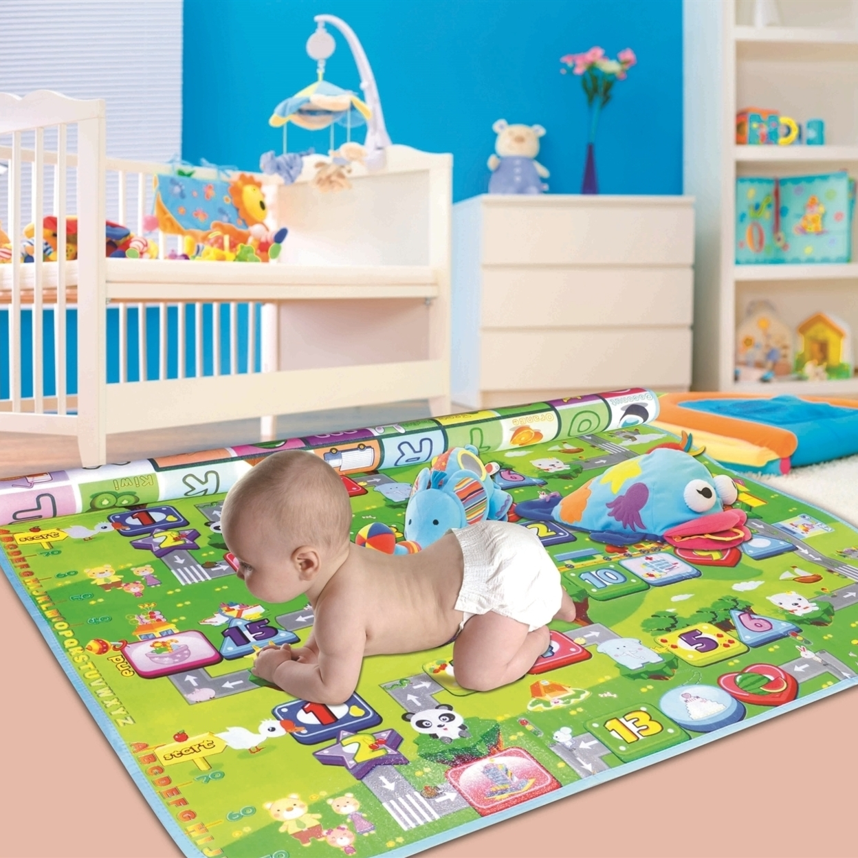 Two Elephants™ Cotton Double-Sided Interactive Play Mat 565f8347a3771cd15d8b4728