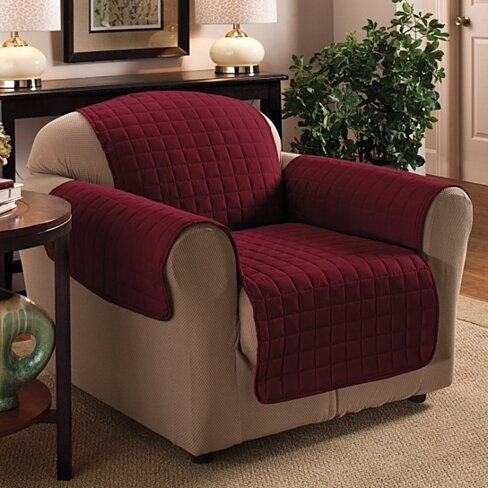 Water-resistant Quilted Furniture Slipcover for Chair, Loveseat, or Sofa
