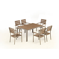 Ordinaire Bow 6 Seat Outdoor Dining Set