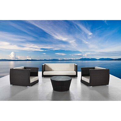 Cappuccino 4-Piece Conversation Furniture Set