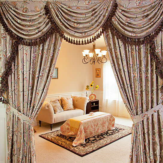 Buy Fleurs Rococo 100u0027u0027 Swag Valance Curtains By Celuce Design On OpenSky