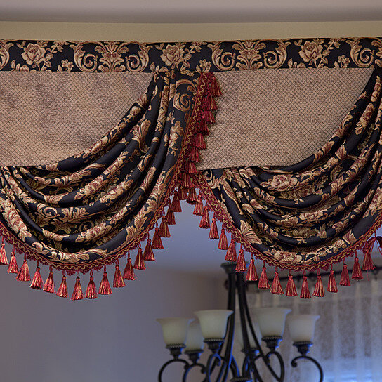 Buy Royal Black 100'' Swags And Tails Valance Curtains By Celuce Design On OpenSky