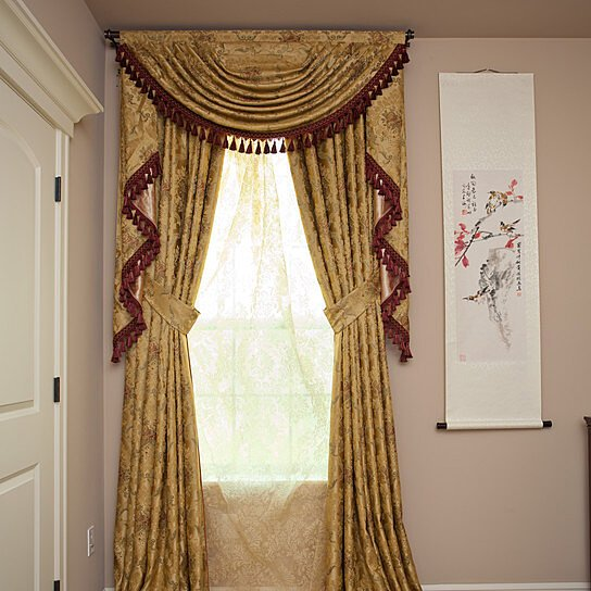 Curtain With Swag Valance Decorate The House With