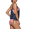 American Flag Double Up Side Tie Tankini