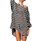 Black & White Stripe Cover-Up Tunic