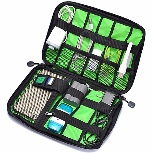 Multi-Compartment Cable and Charger Travel Bag