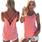Statement Back Criss Cross Strap Tank, Multiple Colors