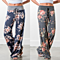 Lilly Posh Floral Print Wide Leg Lounge Pants, S-3x, Multiple Prints
