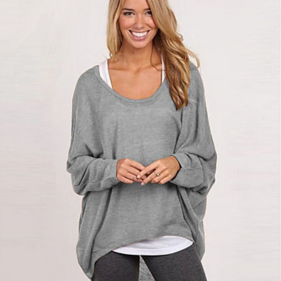 Relaxed Fit Knit High-Low Top in 5 Colors