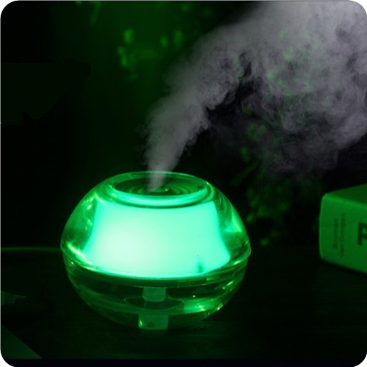 LED Air Humidifier - Green 58e7ebc440f76c54832a3eda