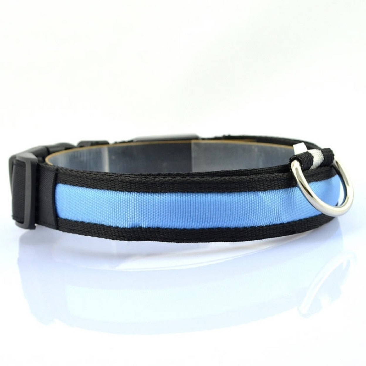 LED Rechargable Pet Collar - Blue, Small 5a748922bd549146ca32b69f