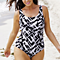 Plus Size Body Sculptor Printed One-Piece Swimsuit in 3 Styles