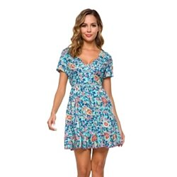 Short Sleeve Baby Doll Style Dress
