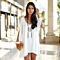 Slit Sleeve V-Neck Shirt Dress in 6 Colors