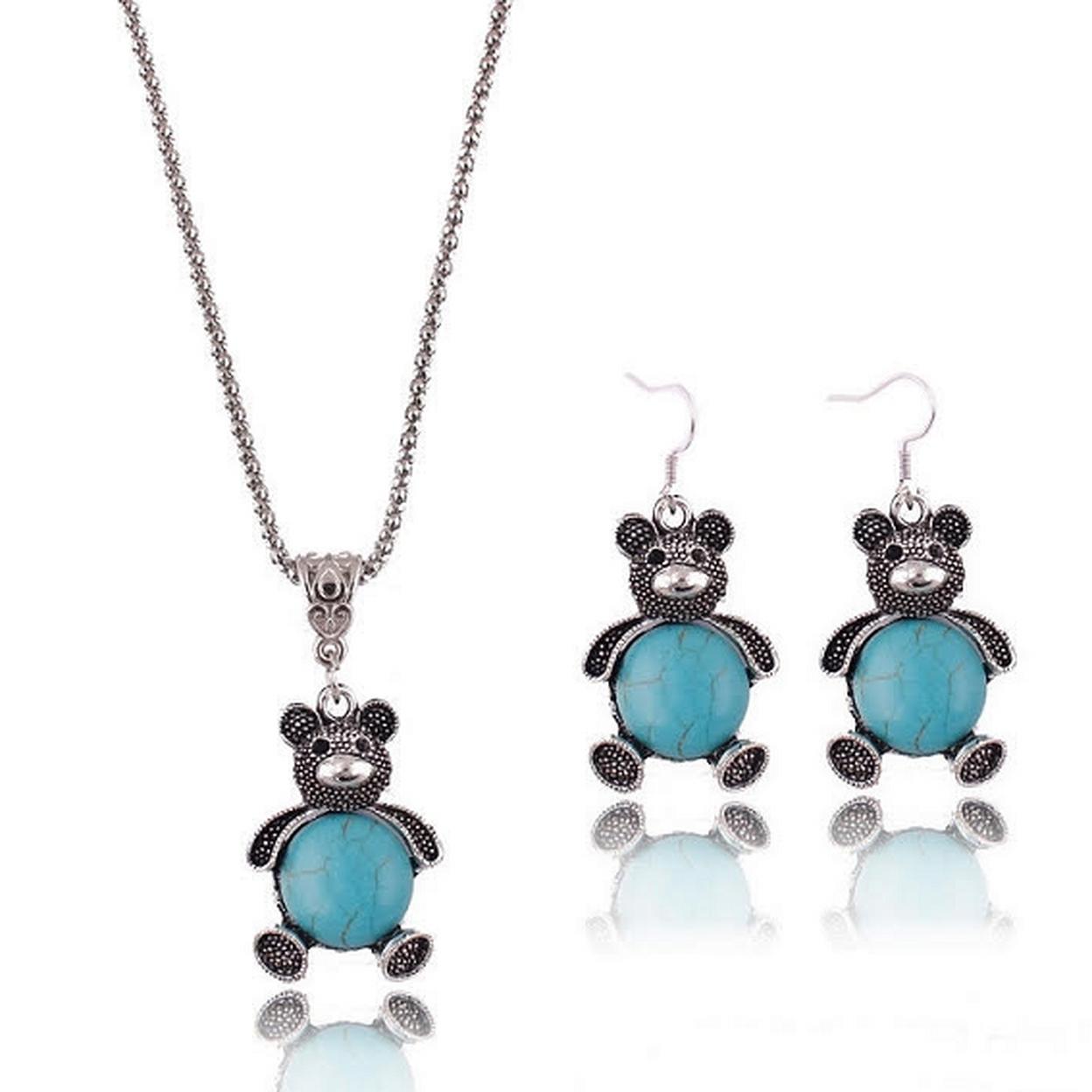Turquoise Teddy Bear Set 56533aa38e3d6fc2178b47a6