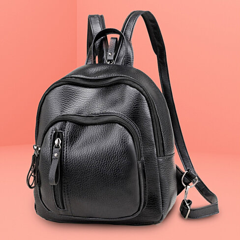 Zippered Strap Backpack