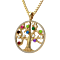 "NANA  Tree of Life Mother's Pendant with a CZ Bezel 1-12 Stones w/1mm 22"" Adj."