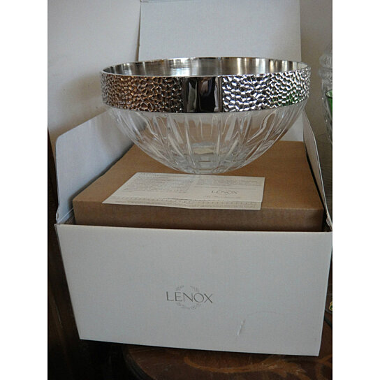 Buy lenox urban accents crystal centerpiece bowl with