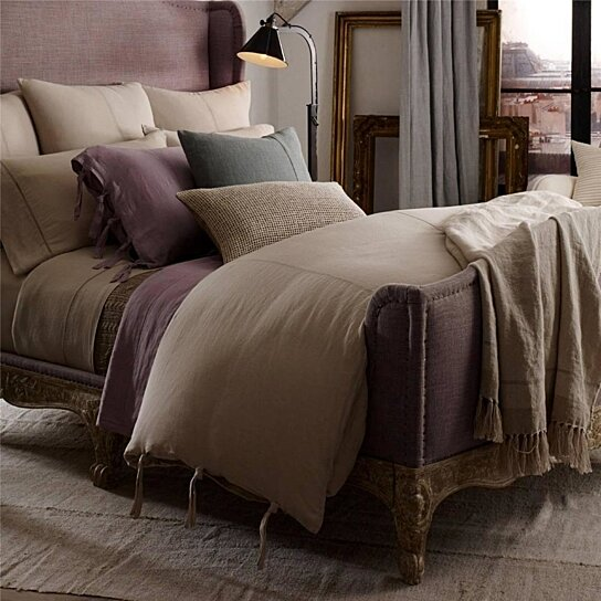 Buy Ralph Lauren Ile Saint Louis Linen Queen Duvet
