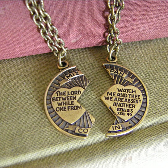 Buy mizpah coin blessing necklace two necklaces couple necklace buy mizpah coin blessing necklace two necklaces couple necklace friend loved one the lord watch between me and thee friend family by chainge the subject on aloadofball Choice Image